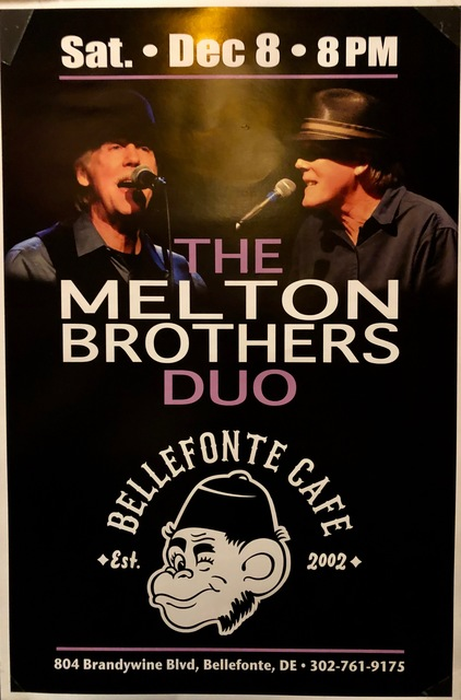 The Melton Brothers Duo at 8 tonight!