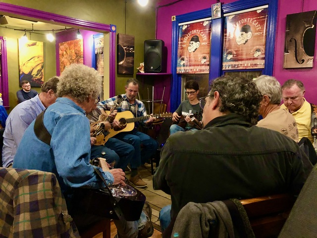 Gerard Theiler's Blue Grass Jam at 6:30.