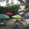 The patio at the cafe